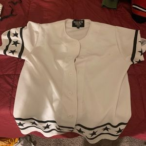 White baseball jersey shirt